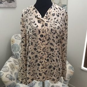 Jones New York Button Down Long Sleeve Blouse